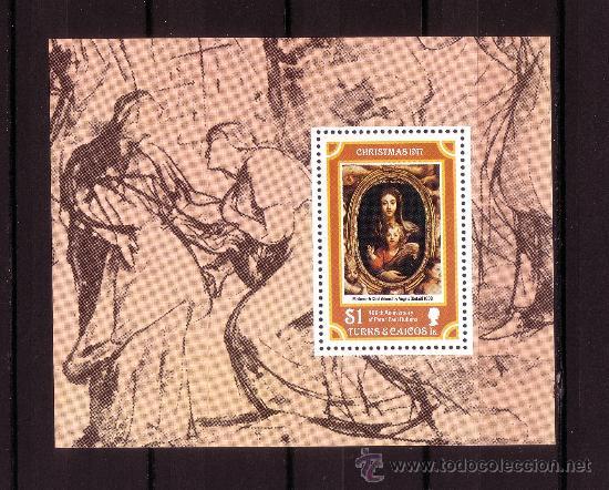 TURKS Y CAICOS HB 8*** - AÑO 1977 - NAVIDAD - PINTURA - OBRA DE RUBENS (Sellos - Temáticas - Navidad)