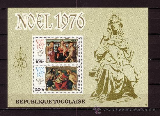 TOGO HB 98*** - AÑO 1976 - NAVIDAD - PINTURA RELIGIOSA - OBRAS DE CARRUCCI Y DE LOTTO (Sellos - Temáticas - Navidad)