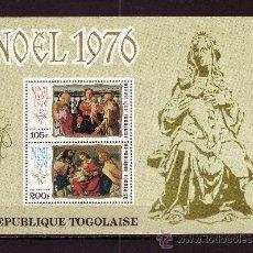 Sellos: TOGO HB 98*** - AÑO 1976 - NAVIDAD - PINTURA RELIGIOSA - OBRAS DE CARRUCCI Y DE LOTTO. Lote 23057608