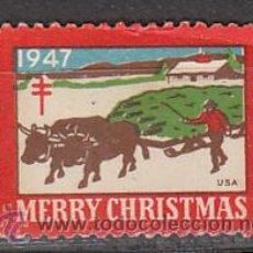 Sellos: ESTADOS UNIDOS, CHRISTMAS SEALS, SELLOS DE NAVIDAD. AÑO 1947, USADO. Lote 25390341