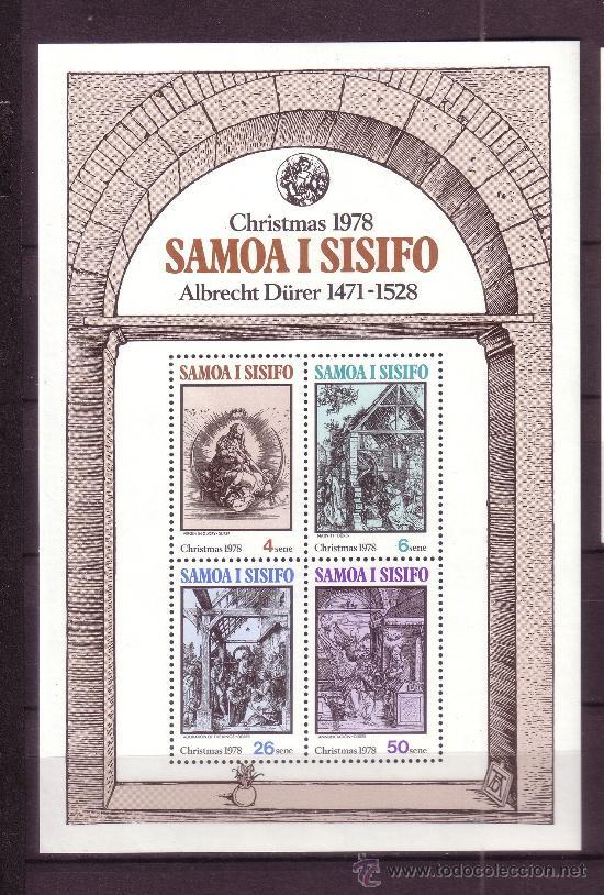 SAMOA HB 17*** - AÑO 1978 - NAVIDAD - PINTURA RELIGIOSA - OBRAS DE DURERO (Sellos - Temáticas - Navidad)