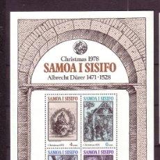 Sellos: SAMOA HB 17*** - AÑO 1978 - NAVIDAD - PINTURA RELIGIOSA - OBRAS DE DURERO. Lote 23712032