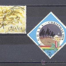 Sellos: GHANA, NAVIDAD, USADOS. Lote 25184705