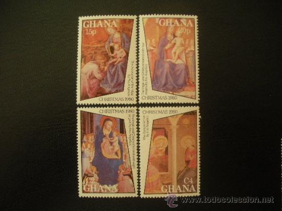 GHANA 1980 IVERT 692/5 *** NAVIDAD - PINTURA RELIGIOSA - OBRAS DE FRAY ANGELICO (Sellos - Temáticas - Navidad)