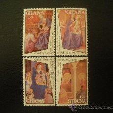 Sellos: GHANA 1980 IVERT 692/5 *** NAVIDAD - PINTURA RELIGIOSA - OBRAS DE FRAY ANGELICO. Lote 28037894
