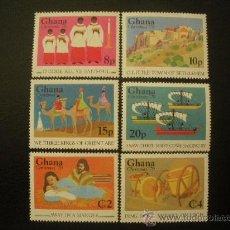 Sellos: GHANA 1979 IVERT 646/51 *** NAVIDAD - CANTOS Y ESCENAS DE NAVIDAD. Lote 28037926