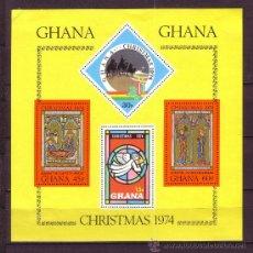 Sellos: GHANA HB 57* - AÑO 1974 - NAVIDAD. Lote 28464774