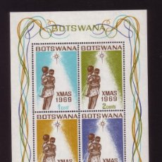 Sellos: BOTSWANA HB 2*** - AÑO 1969 - NAVIDAD. Lote 29735835