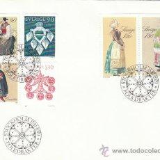 Sellos: SUECIA IVERT 1069/74, NAVIDAD 1979 (JOYAS Y FOLKLORE SUECO), PRIMER DIA DE 15-11-1979. Lote 30791588