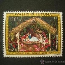 Sellos: WALLIS Y FUTUNA 1981 AEREO IVERT 113 *** NAVIDAD - PESEBRE TIPICO DE WALLIS. Lote 30887305