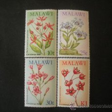 Sellos: MALAWI 1987 IVERT 501/4 *** NAVIDAD - FLORES INDIGENAS - FLORA. Lote 32131780