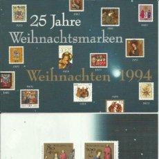 Sellos: ALEMANIA TARJETA NAVIDAD 1995 MAT BONN RELIGION . Lote 32349903