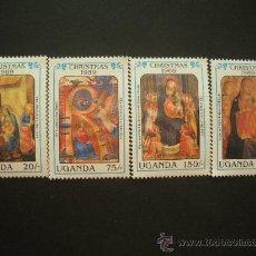 Sellos: UGANDA 1989 IVERT 628/31 *** NAVIDAD - OBRAS DE FRAY ANGELICO - PINTURA RELIGIOSA. Lote 32616410