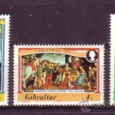 Sellos: GIBRALTAR 480/82** - AÑO 1983 - NAVIDAD - PINTURA RELIGIOSA - OBRAS DE RAPHAEL. Lote 33028577