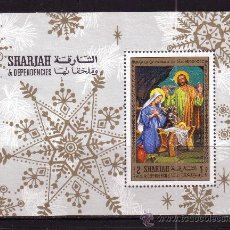 Sellos: SHARJAH 249 HB* - AÑO 1968 - NAVIDAD . Lote 33057963