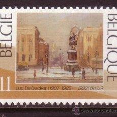 Sellos: BELGICA 2488*** - AÑO 1992 - NAVIDAD - PINTURA - OBRA DE LUC DE DECKER. Lote 209069062