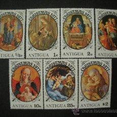 Timbres: ANTIGUA 1977 IVERT 472/8 *** NAVIDAD - PINTURA RELIGIOSA - LA VIRGEN Y EL NIÑO. Lote 34375690