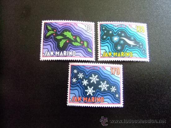 SAN MARINO AÑO 1978 YV968-970 ** MNH NAVIDAD- NOEL (Sellos - Temáticas - Navidad)