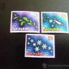 Sellos: SAN MARINO AÑO 1978 YV968-970 ** MNH NAVIDAD- NOEL. Lote 34586260