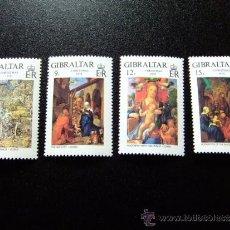 Sellos: GIBRALTAR AÑO 1978 YVERT 384 -387 ** MNH NAVIDAD -NOEL . Lote 34664646