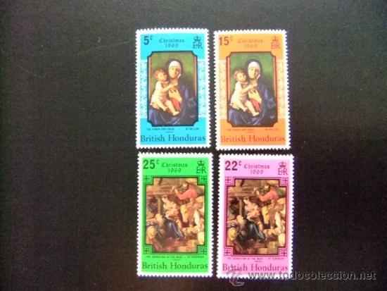 HONDRAS BRITANICA AÑO 1969 YVERT & TELLIER Nº 237 - 240 ** NAVIDAD (PINTURAS) (Sellos - Temáticas - Navidad)