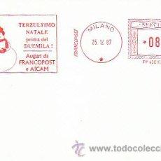 Sellos: ITALIA, ANTEPENULTIMA NAVIDAD ANTES DEL MILENIO, FRANQUEO MECANICO DE 25-12-1997, MUESTRA-SPECIMEN. Lote 35691986