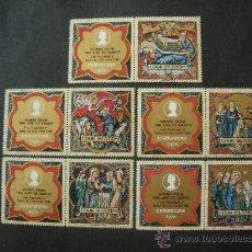 Sellos: COOK 1970 IVERT 257/61 *** NAVIDAD - ILUSTRACIONES LIBRO VIDA DE CRISTO - ROBERT LISLE - RELIGION . Lote 35829586