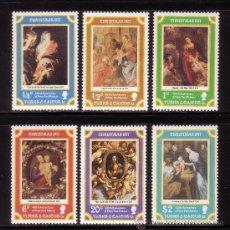 Sellos: TURKS & CAICOS 373/78*** - AÑO 1977 - NAVIDAD - PINTURA RELIGIOSA - OBRAS DE RUBENS. Lote 36233846