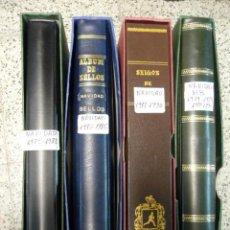 Sellos: LOTE 4 ALBUMES DEDICADOS A LA NAVIDAD - AÑOS 1979 A 1990. Lote 36779954