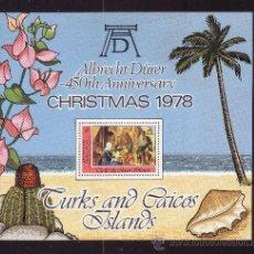 Sellos: TURKS & CAICOS HB 13*** - AÑO 1979 - NAVIDAD - PINTURA RELIGIOSA - OBRA DE DURERO. Lote 36869650