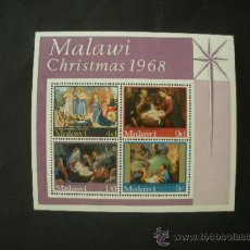Sellos: MALAWI 1968 HB IVERT 12 *** NAVIDAD - PINTURA RELIGIOSA. Lote 37320788