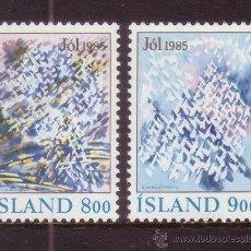 Sellos: ISLANDIA 595/96*** - AÑO 1985 - NAVIDAD - IMAGENES INVERNALES. Lote 37793687