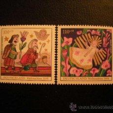 Sellos: ALEMANIA FEDERAL 1998 IVERT 1855/6 *** NAVIDAD - NATIVIDAD Y LOS REYES MAGOS. Lote 77899766