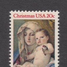 Sellos: ESTADOS UNIDOS 1456** - AÑO 1982 - NAVIDAD - PINTURA RELIGIOSA - OBRA DE TIEPOLO. Lote 38455331