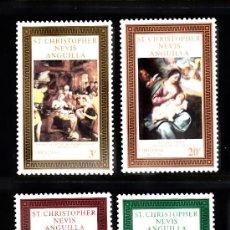Sellos: SAN KITTS 247/50** - AÑO 1970 - NAVIDAD - PINTURA RELIGIOSA - OBRAS DE FRANS FLORIS Y VAN DYCK. Lote 38825838