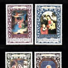 Sellos: SAN KITTS 340/43* AÑO 1976 - NAVIDAD - PINTURA RELIGIOSA. Lote 38825848