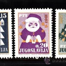 Sellos: YUGOSLAVIA 1088/90** - AÑO 1966 - NAVIDAD - AÑO NUEVO. Lote 112800323
