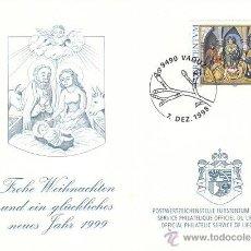 Sellos: LIECHTENSTEIN IVERT 1125, NAVIDAD 1998, PRIMER DIA DE 7-12-1998. Lote 39808608