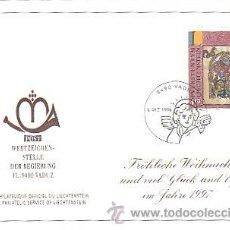 Sellos: LIECHTENSTEIN IVERT 1084, NAVIDAD 1996, SIMBOLO DE MARCOS EVANGELISTA, PRIMER DIA DE 2-12-1996. Lote 39808657