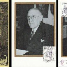 Sellos: EDIFIL 1758/60, AUTORES DE TEATRO ARNICHES, VALLE-INCLAN Y BENA, TARJETA MAXIMA PRIMER DIA 7-11-1966. Lote 39936739
