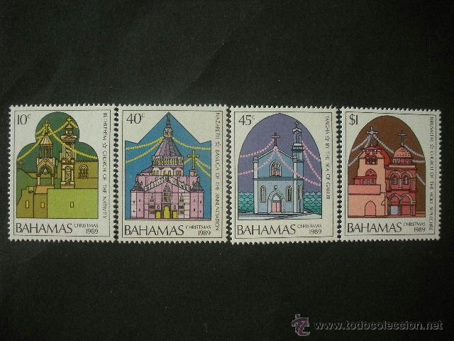 BAHAMAS 1989 IVERT 695/8 *** NAVIDAD - IGLESIAS EN TIERRA SANTA (Sellos - Temáticas - Navidad)