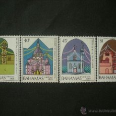 Sellos: BAHAMAS 1989 IVERT 695/8 *** NAVIDAD - IGLESIAS EN TIERRA SANTA. Lote 40018134