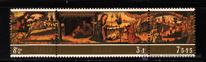 MALTA 513/15** - AÑO 1975 - NAVIDAD - PINTURA RELIGIOSA (Sellos - Temáticas - Navidad)
