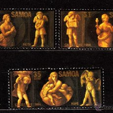 Sellos: SAMOA 569/71** - AÑO 1984 - NAVIDAD - PINTURA RELIGIOSA - OBRAS DE RAPHAEL. Lote 40287131