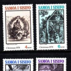Sellos: SAMOA 428/31** - AÑO 1978 - NAVIDAD - PINTURA RELIGIOSA - OBRAS DE DURERO. Lote 113153819