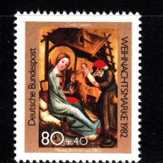 Sellos: ALEMANIA 993** - AÑO 1982 - NAVIDAD - PINTURA RELIGIOSA. Lote 40709444