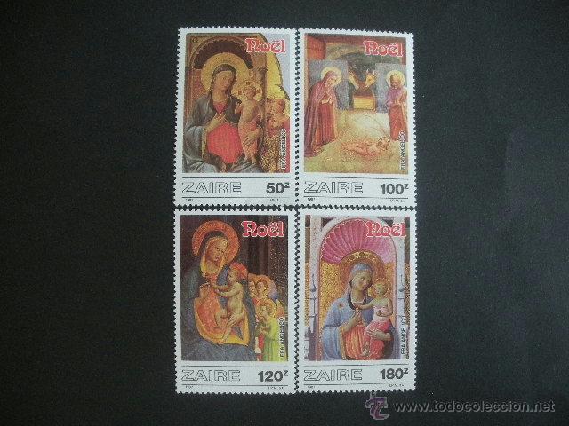 ZAIRE 1987 IVERT 1244/7*** NAVIDAD - OBRAS DE FRA ANGELICO - PINTURA RELIGIOSA (Sellos - Temáticas - Navidad)