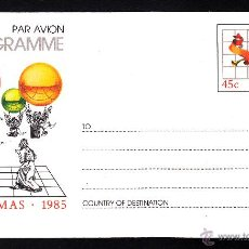 Sellos: AUSTRALIA AEROGRAMA ** - AÑO 1985 - NAVIDAD. Lote 40980112