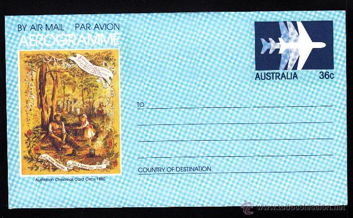 AUSTRALIA AEROGRAMA ** - AÑO 1982 - NAVIDAD (Sellos - Temáticas - Navidad)