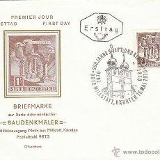 Sellos: AUSTRIA IVERT Nº 954 AA, CASTILLO DE MILLSTATT, PRIMER DIA DE 15-5-1970. Lote 41556022